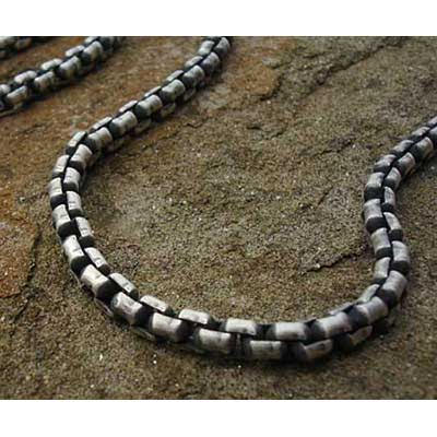 Silver Belcher Link Chain Mens Necklace UK