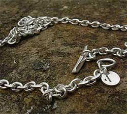 Angle Filed Chain Mens Necklace UK
