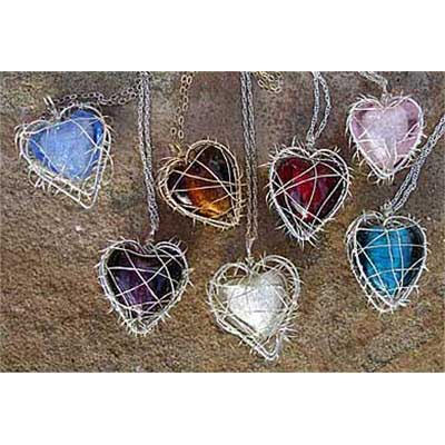 Silver Heart Necklaces UK
